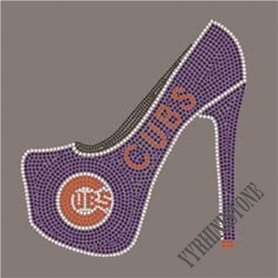 Chicago Cubs iron on high heel shoe Rhinestone Transfer