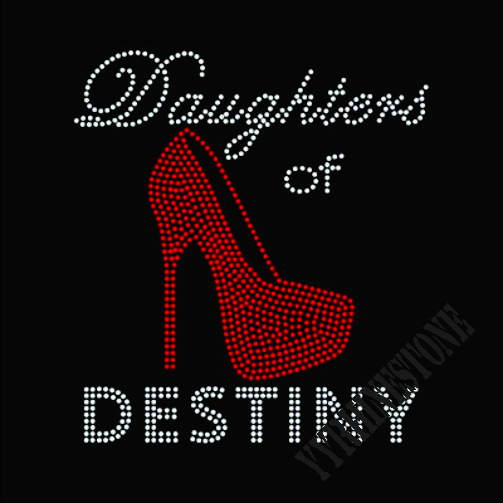 Daughters of destiny 2017 new fashion iron on rhinestone transfers