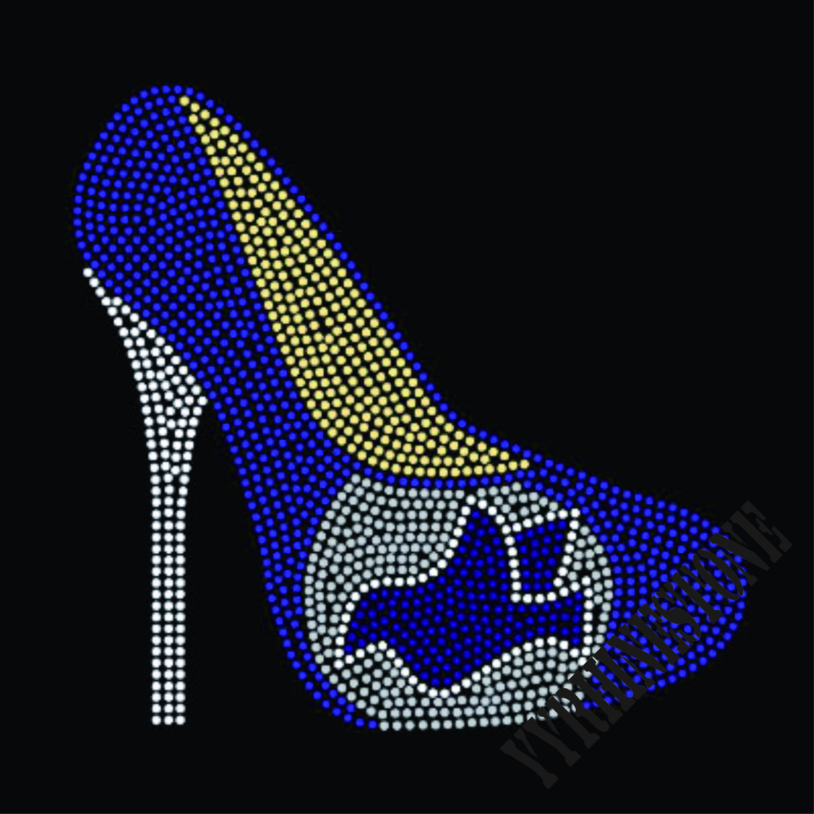 New high heel shoe hotfix rhinestone transfers