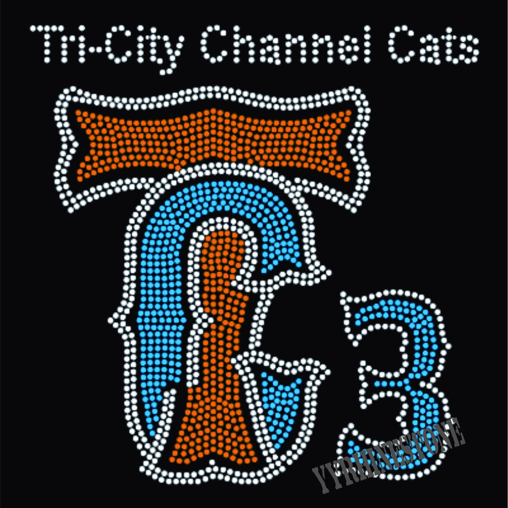 the city channel cats rhinestone transfer