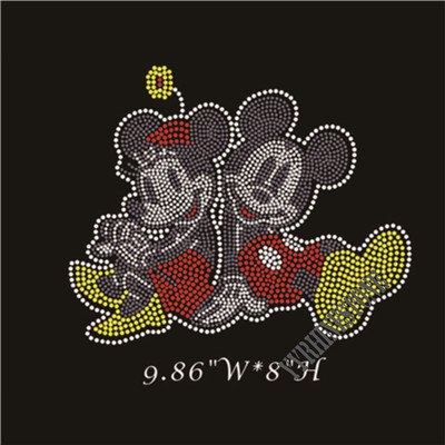 Lovely Mickey mouse rhinestone transfer