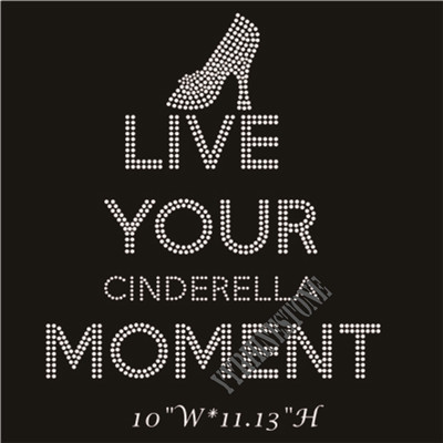 Cinderella live your moment rhinestone transfer