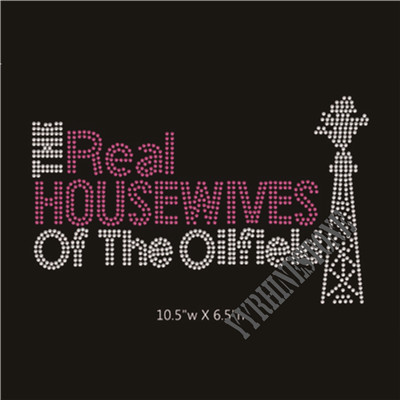 The Real Houswives of the Oilfield Spolied Wife Rhinestone transfer