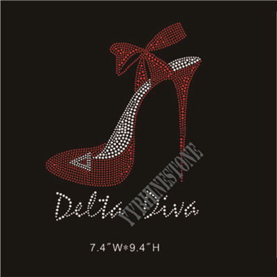 Delta diva high heel shoes rhinestone transfer