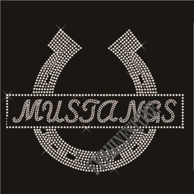 Musjangs Clevis Iron On Rhinestone Motif