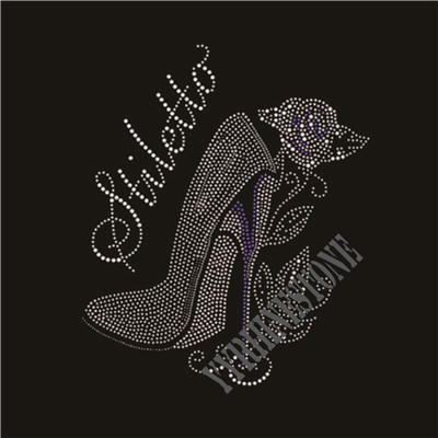 Stiletto rhinestone transfer